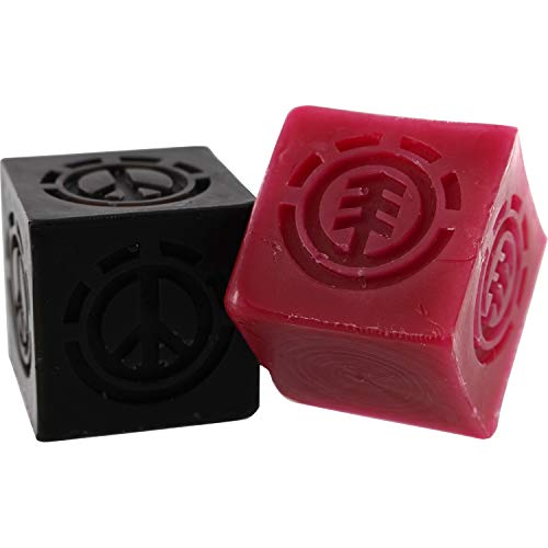 - Element Skateboards Peace Curbs Red/Black Skate Wax - Two Pack