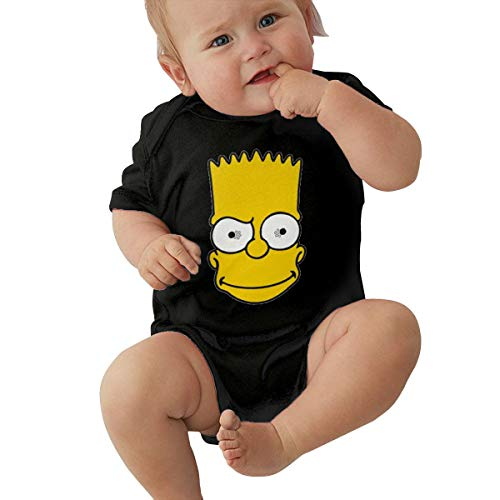 LiuYeWen Bart Simpson Limited Edition Baby Clothes Popular Black 6M -