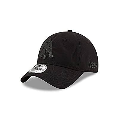 New England Patriots Classic Throwback Black on Black 9TWENTY Adjustable Hat / Cap by New Era