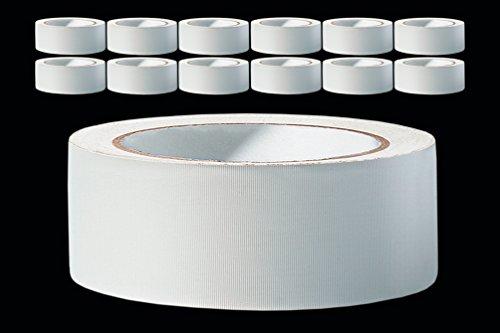 Putzband PROFI - 12 Rollen - 38 mm weiss gerillt 33 m PVC Schutzband Putzerband Bautenschutz Klebeband Putz Abklebeband