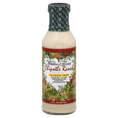 Chipotle Ranch - Walden Farms Calorie-Free Chipotle Ranch Dressing, 12 Ounce (Pack of 6)