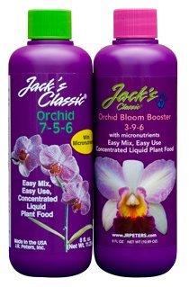 Jack's Orchid Liquid 8oz Grow 7-5-6 & Orchid Bloom 3-9-6