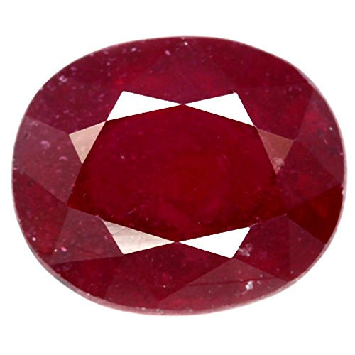 GEMS HUB 4.25 Ratti Natural Ruby/Manik Gemstone with Certificate in AAA Quality
