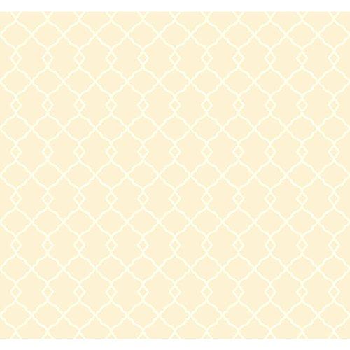 (York Wallcoverings WM2575 Williamsburg Chippendale Fret Wallpaper, Beige/Cream )