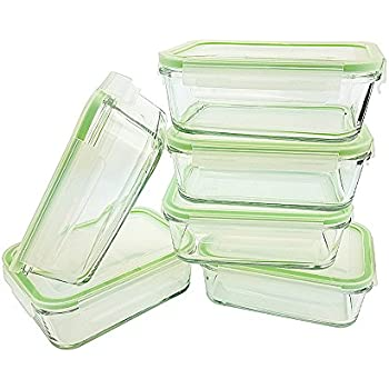 Kinetic GoGreen Glassworks 30 Oz 12Piece Rectangular Oven Safe Glass Food  Storage Container Set; 6