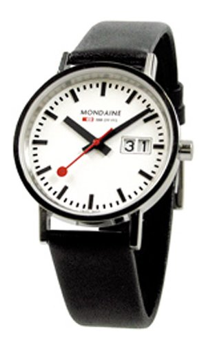 Mondaine Classic Big Date - Polished Finish - 33 mm Unisex Size -  white dial -  A669.30008.11SBO (White Polished Dial)