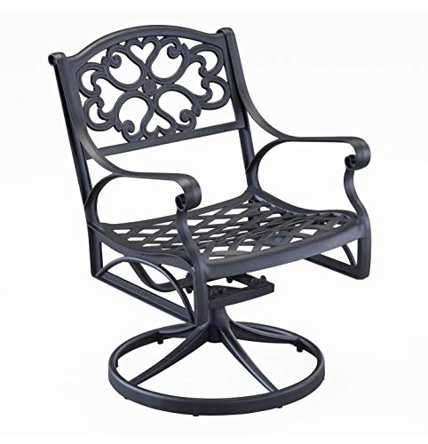 Biscayne Black Swivel Outdoor Arm Chair by Home Styles ()