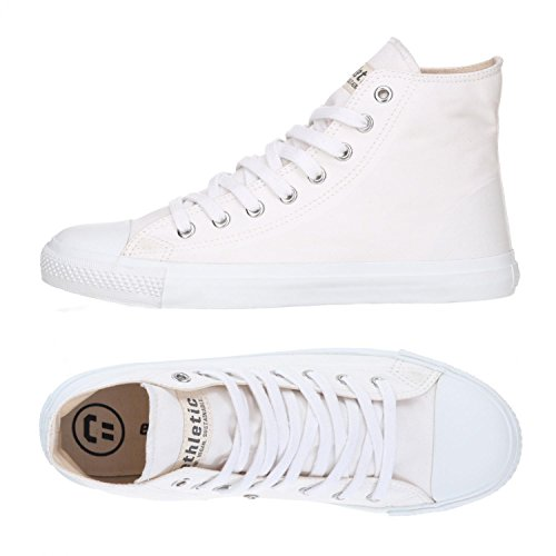 Ethletic Sneaker Vegan Hicut Collection 18 - Farbe Just White/White Aus Bio-Baumwolle
