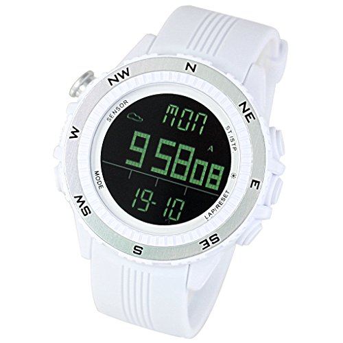 (LAD-WEATHER Altimeter Barometer Compass Sensor Watch Thermometer Weather Monitor Climbing Trekking Camping Hiking Outdoor Sports Watches)