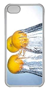 Customized iphone 5C PC Transparent Case - Splashing Oranges Personalized Cover