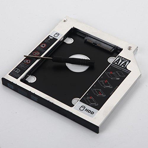 DY-tech 2nd Hard Drive HD SSD Caddy for DELL Latitude E5440 E5540 E6440 E6540 Swap GU90N (Drive Bay E5540)