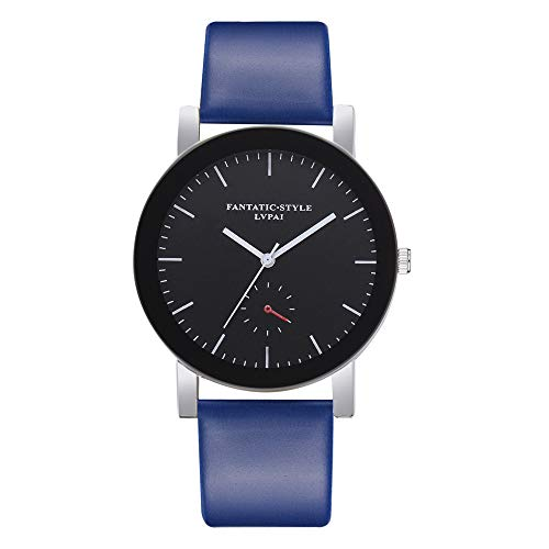 HHei_K Lvpai P680 Women Fashion Briefness Sport Dial Analog Quartz Watch - Stylish Leather Band Office Wrist Watch ()
