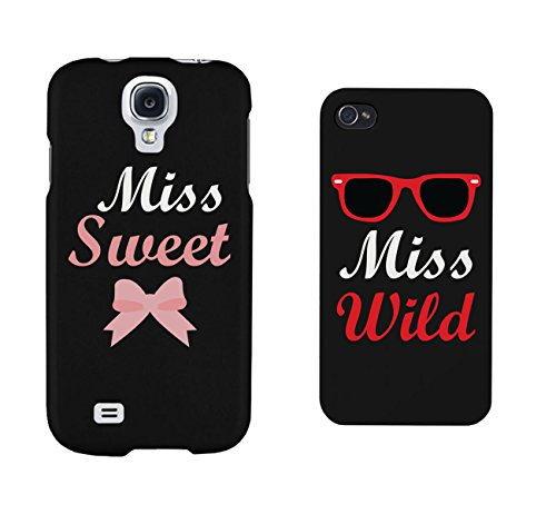 Cute BFF Phone Cases - Miss Sweet and Miss Wild Matching Phone Cases for iphone 4, iphone 5, iphone 5C, iphone 6, iphone 6 plus, Galaxy S3, Galaxy S4, Galaxy S5, HTC One M8, LG G3