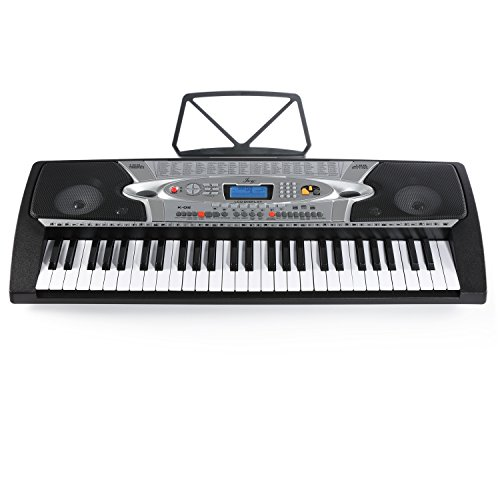 Joy K-02 54-Key With LCD Screen Electronic Keyboard for Beginners with Microphone &Power Supply by Joy