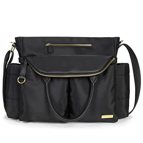 (Skip Hop Chelsea Downtown Chic Diaper Satchel, Black)