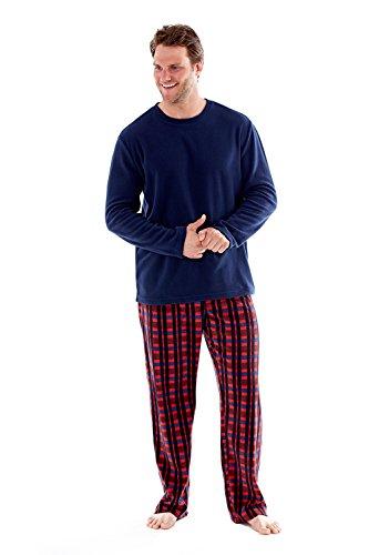 Harvey Uomo Set James Pyjama Pile Pigiama Red 5rx5aw8