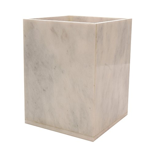 Polished Marble Wastebasket Alabaster White Shower And Bathroom Accessory Buy Online In Faroe Islands At Faroe Desertcart Com Productid 35369819