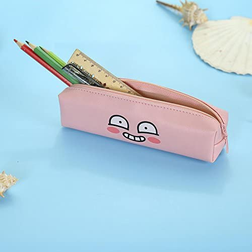 Cdet Estuche Kawaii Cara expresión de Dibujos Animados Caja de lápices de papelería lápiz Bolsa Lindo Plumas Grandes pencilcase School,Azul Cielo: Amazon.es: Electrónica