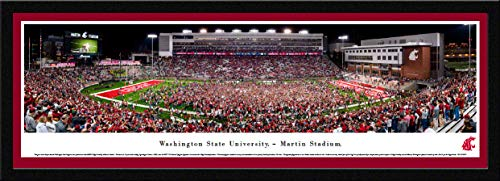 Washington State Football, Storm The Field - 42x15.5-inch Single Mat, Select Framed Picture by Blakeway Panoramas
