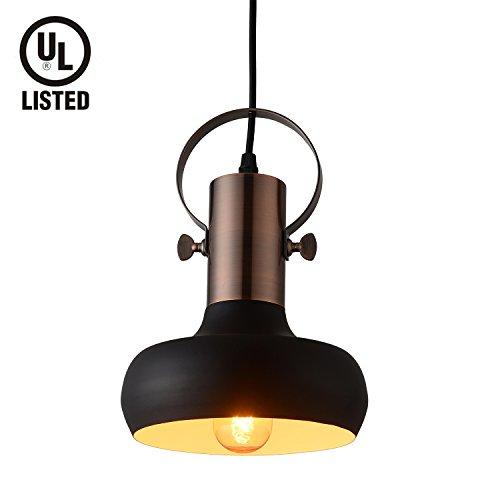 Shiny Copper Pendant Light in US - 1