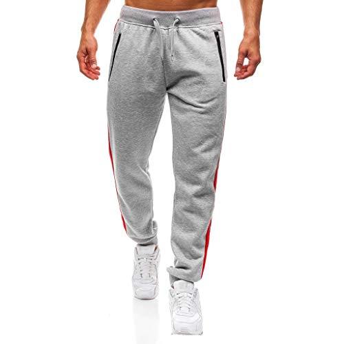 Sportivi Da Pantaloni Lavoro Splicing Somesun Uomo Casuale Grigio Sport Jeans Invernali Tuta Felpati Elegante lavoro Tasca Formazione BxtxvAqwn