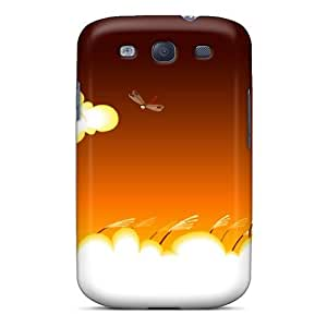 Hot REu3256jpaE Case Cover Protector For Galaxy S3- Red Sun Dragonflies