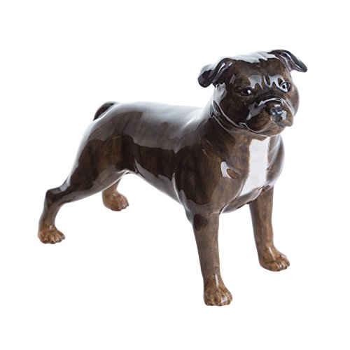 John Beswick JBD91 Staffordshire Bull Terrier Brindle Dog Figurine