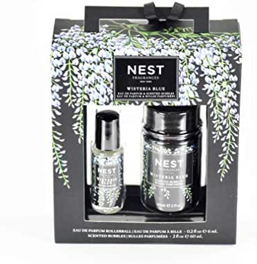 Nest Fragrances Wisteria Blue Eau De Parfum & Scented Bubbles Duo Travel Set