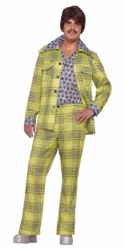 Men's Plaid Leisure Suit Costume, Plaid, One Size (Leisure Suits For Sale)
