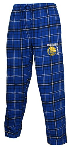 Golden State Warriors 2018 NBA Champions Men's Plaid Pajama Lounge Pants (Medium 32-34, Multi) -