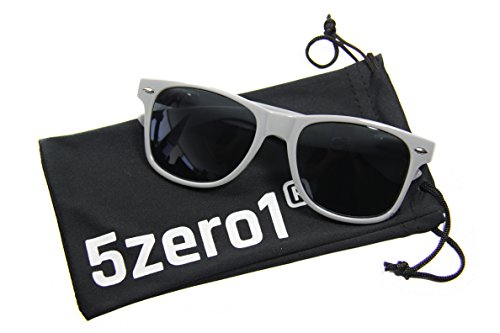 5Zero1 80's Women Men Wayfarer Classic Fashion Party Wedding Sunglasses (Vintage Gray Style, Black)