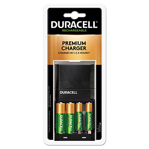 Power Hi Battery Nimh (Duracell CEF27 ION SPEED 4000 Hi-Performance Charger, Includes 2 AA and 2 AAA NiMH Batteries)