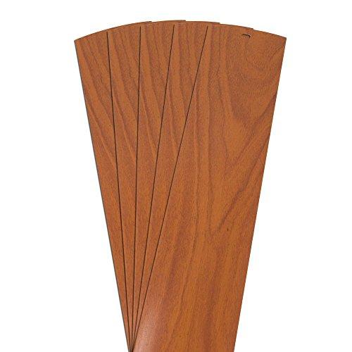 DALIX Wood Grain Vinyl Vertical Blinds Replacements Pecan 64.5