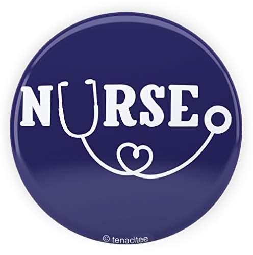 Tenacitee Nurse Stethoscope Pinback Button, 2.25
