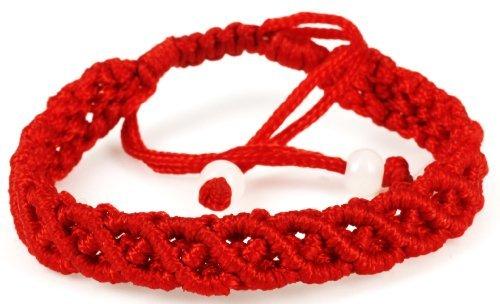 LUOS handmade red string bracelet anklet – wealth Goodluck prosperity protection women men kids – st003