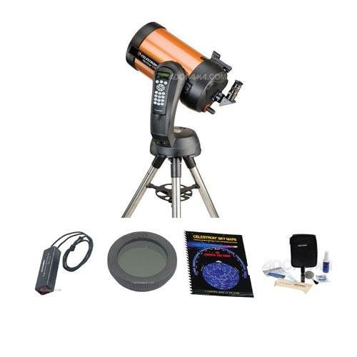 | Celestron NexStar 8 SE Schmidt-Cassegrain Telescope, Special Edition - with Accessory Kit (Night Vision Flash Light, Sky Maps, Moon Filter, Optical Cleaning Kit)