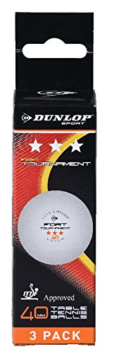 Dunlop Fort Tournament Table Tennis Balls (3-pack)