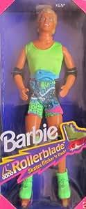 Barbie ROLLERBLADE KEN DOLL w Flicker 'n Flash ROLLER BLADE SKATES (1991)