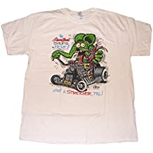 The Heartbeat Stops Here Mens Shirt Featuring Rat Fink in a T Bucket
