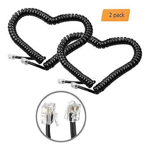 6 ft telephone cord coiled - 3