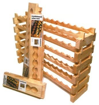 Wine Rack - Modular 72 Bottle (12 across) (Pine) (33''h x 47.5''w x 11.75''d)