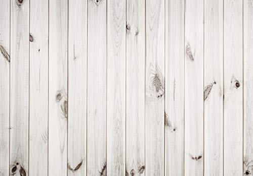 Allenjoy 7X5ft White Wood Pattern Photography Backdrop Wood Floor Wall Background Portrait Wooden Photo Studio Props for Photographer (Photographer Background)