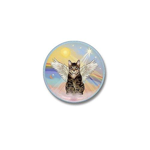 Cloud Cat (CafePress - Clouds - Tabby cat angel Mini Button - 1