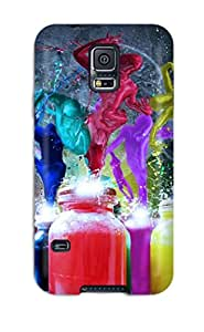 Rugged Skin Case Cover For Galaxy S5- Eco-friendly Packaging(funky)