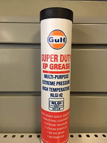 Temperature Grease Bearing - Gulf 344012-1 Super Duty EP High Temperature Bearing Grease, NLGI Grade #2, Lithium Complex Based, Red