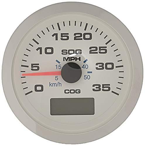 Sierra International 781-625-035P Scratch Resistant Premier Pro Gauge, 35 MPH GPS Speedometer, White, 3