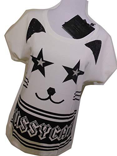 P Pussy Donna shirt Philipp Fw15 T Cat 50 Sconto Bianco vXTqxdx