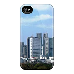 Top Quality Rugged Shinjuku Skyline Case Cover For Iphone 4/4s