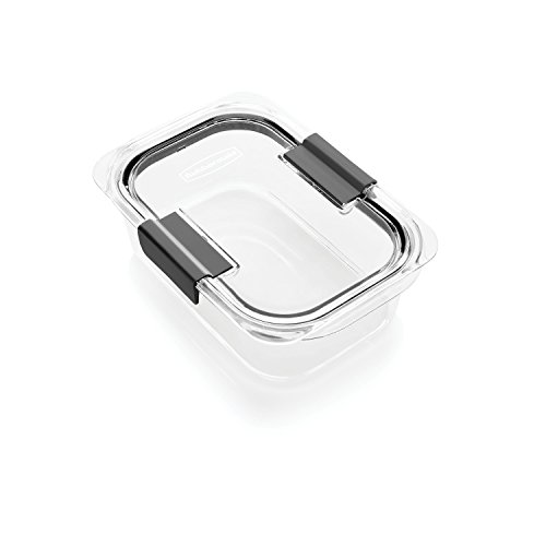 Rubbermaid Brilliance Food Storage Container, Medium, 3.2 Cup, Clear -
