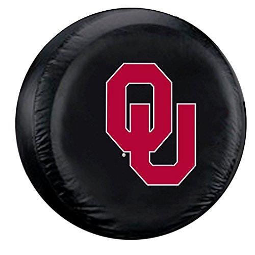Fremont Die Oklahoma Sooners NCAA Spare Tire Cover (Standard) (Black) Fmt5TC-OKS-58453 ()